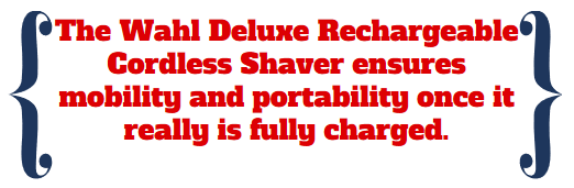 mobile portable wahl shaver