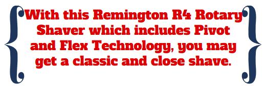 remington pivot close shave