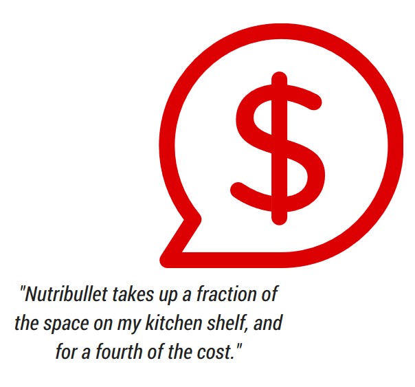 nutribullet costs less and saves space